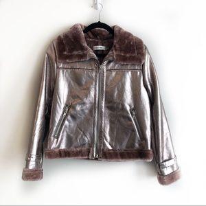 Pink Metallic Jacket